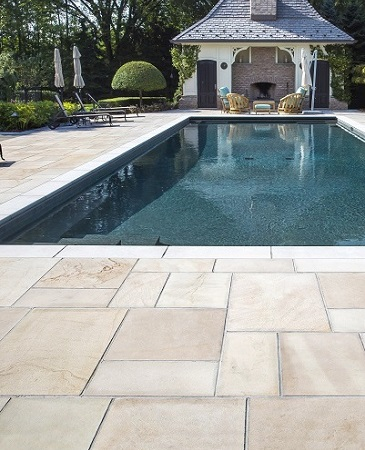 Natural Stone's durability and strength is perfect for pool surrounds.